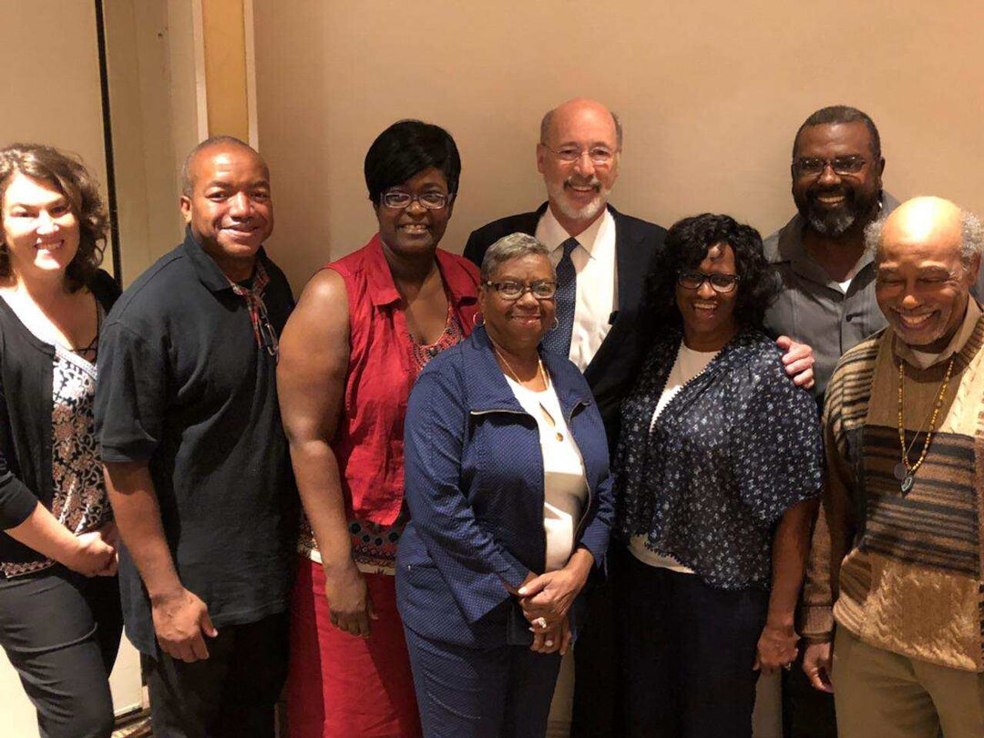 Gov Tom Wolf and Chesco NAACP members